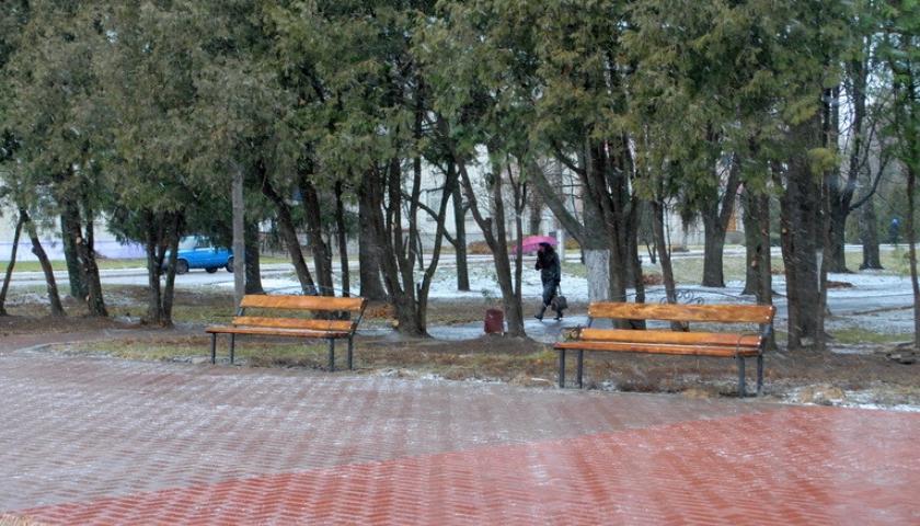Вхід в центральний парк Ямполя прикрасить кована арка